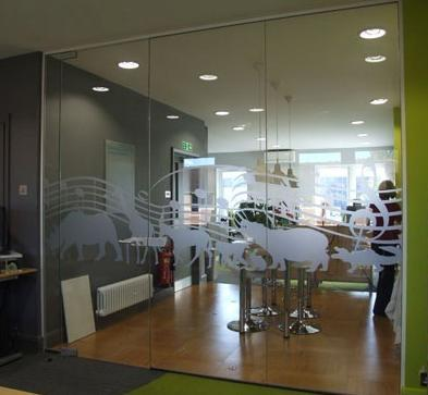Designer Toughened Glass Wall