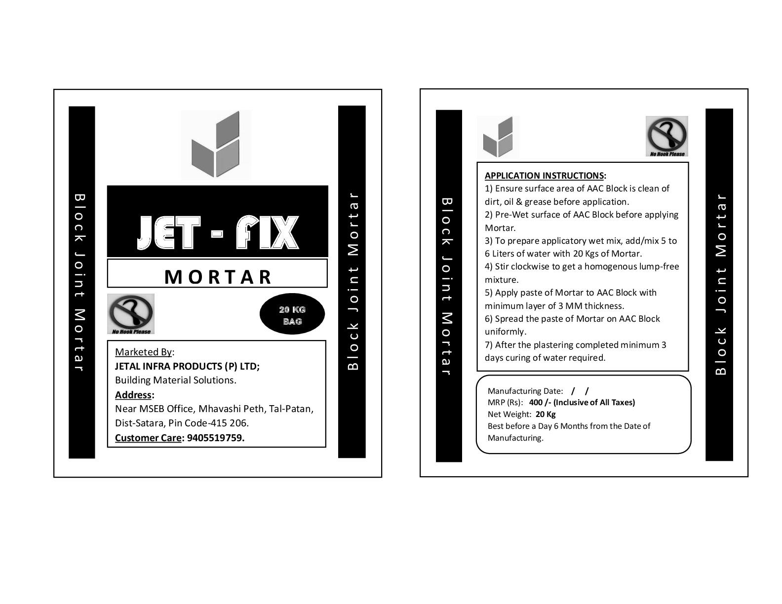 Jointing Mortar