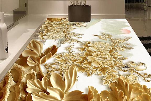Murals Of Glass Mosaic Tile