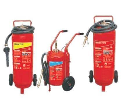 Fire Extinguisher Trolley Mounted