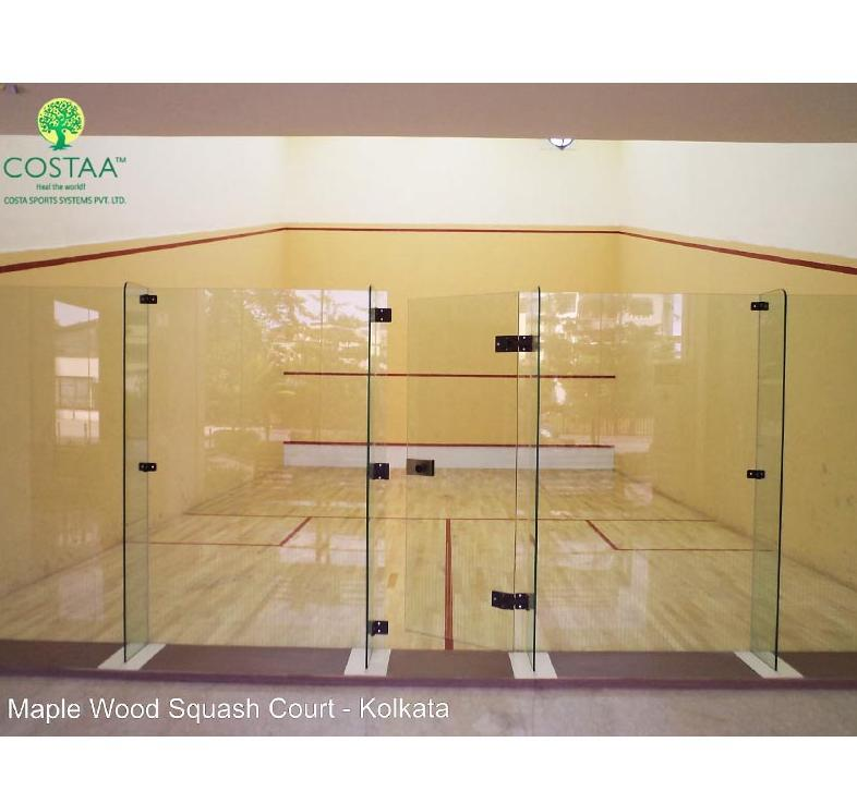 Squash Court Backwall Glass System