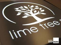 Stencil cut LED logo