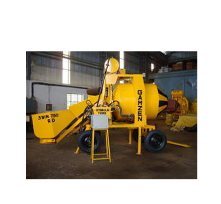 3 Bin 750 RD Reversible Drum Type Mini Mobile Batching Plant