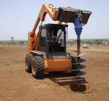 Skid Steer Loader with Auger