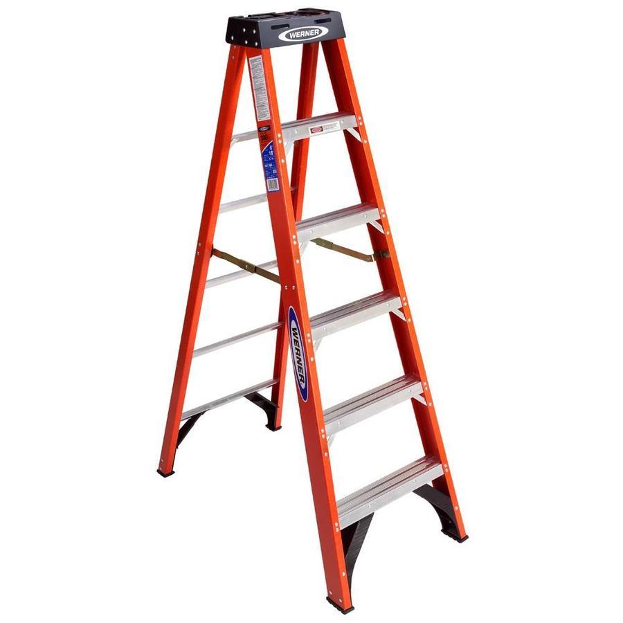 Broad Step Folding Ladder