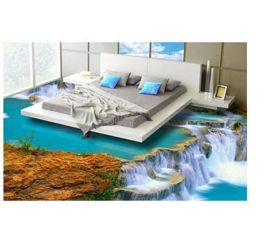 3D Waterfall Floor Tile