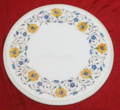 White Marble Round Table Tops