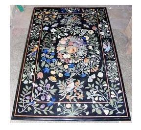 Rectangular Marble Inlay Table Tops