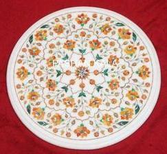 Round Marble Inlay Table Tops