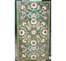 Green Stone Inlay Dining Table Tops