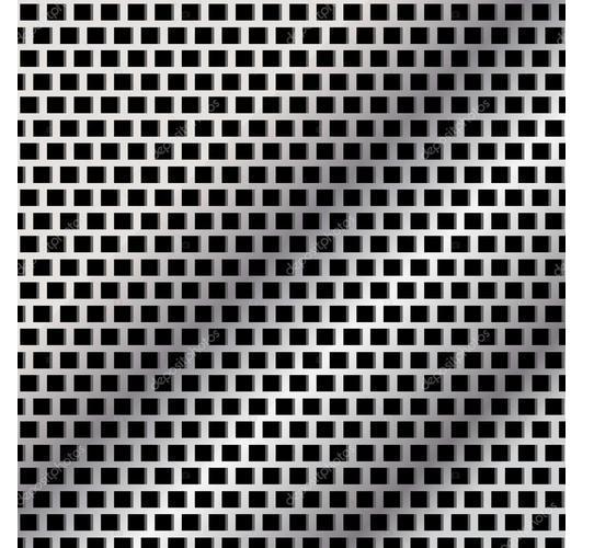 Oblong Hole Perforated Circles