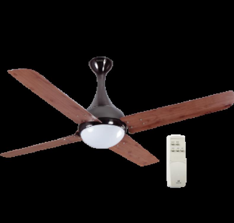 Underlight Red Oak Black Nickel Fan
