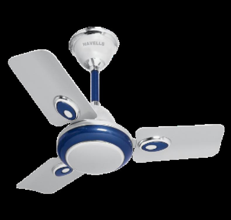 Decorative Silver Blue Fan