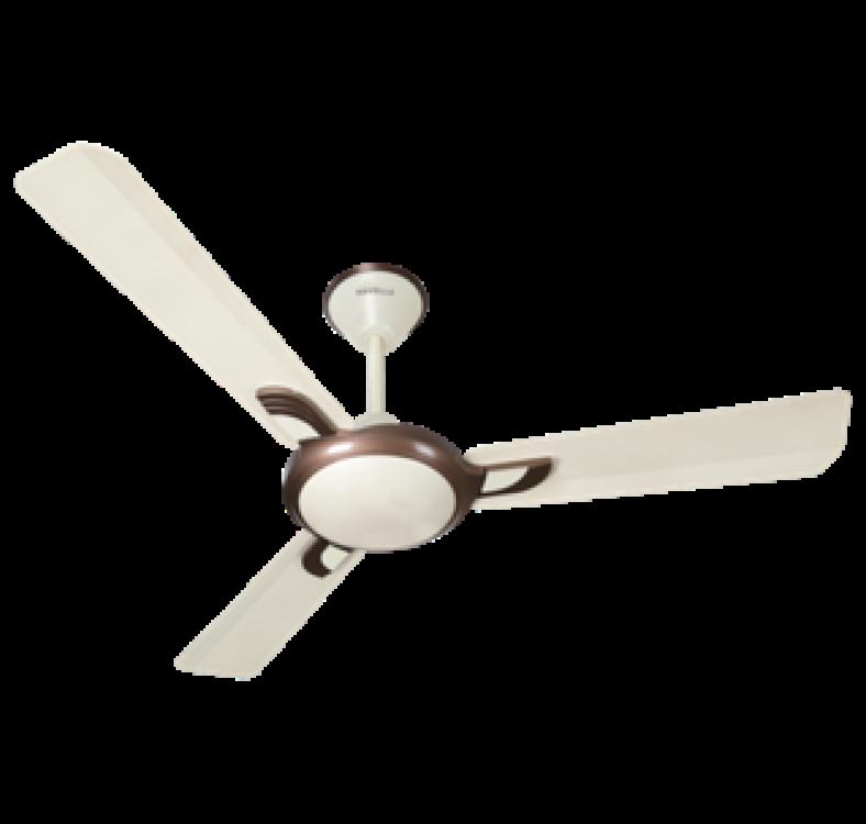 Decorative Pearl Ivory  Brown Fan