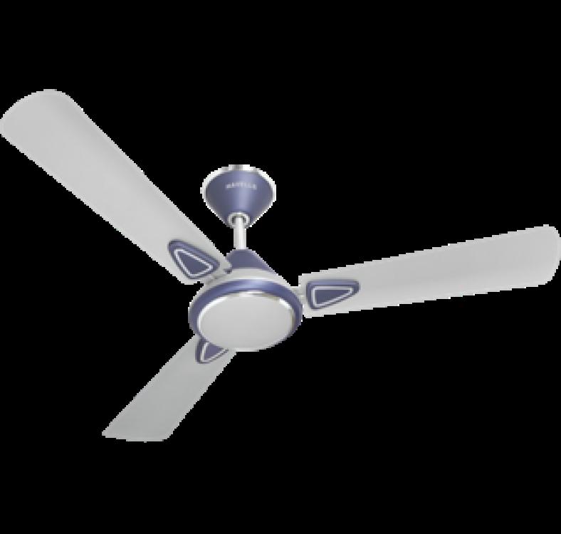 Decorative Silver-Blue  Fan