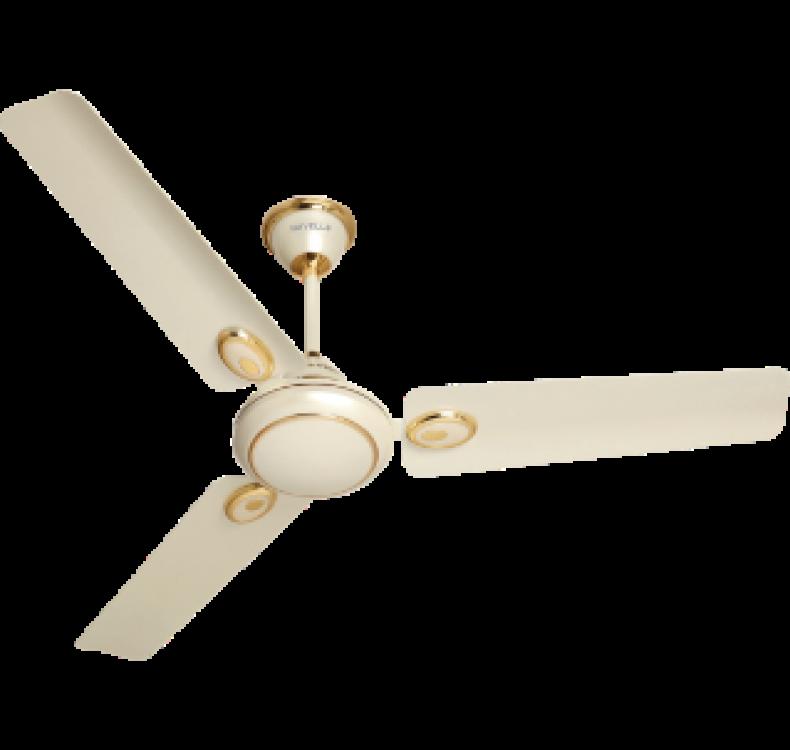 Decorative Pearl Ivory-Gold Fan