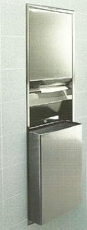 Recessed Paper Towel Dispenser/Waste Receptacle