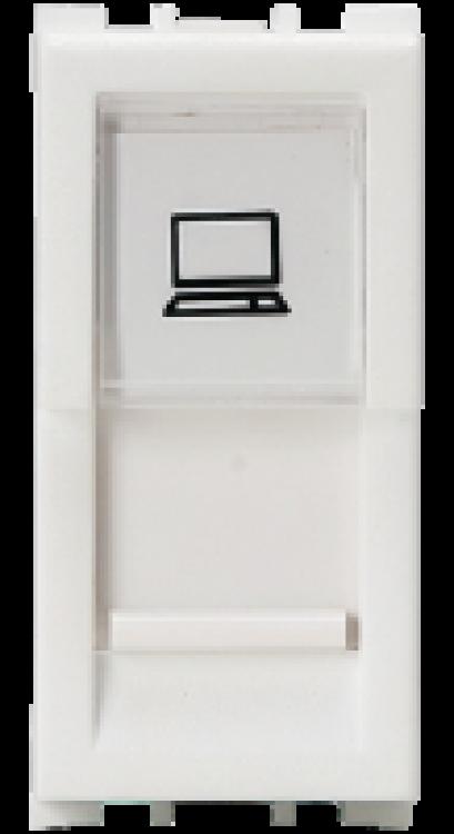 1 Module, RJ45 Computer Socket Cat 5e