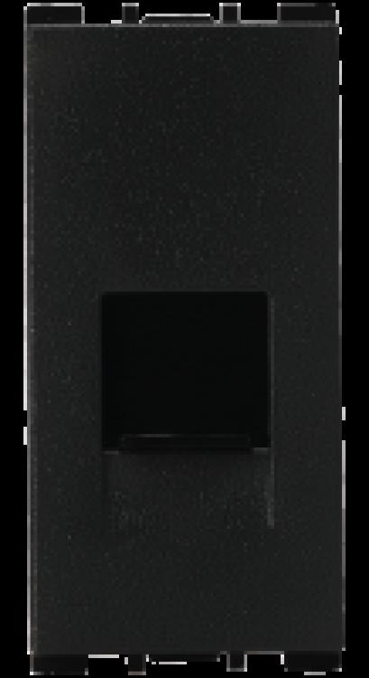 1 Module, RJ11 Telephone Socket With Shutter