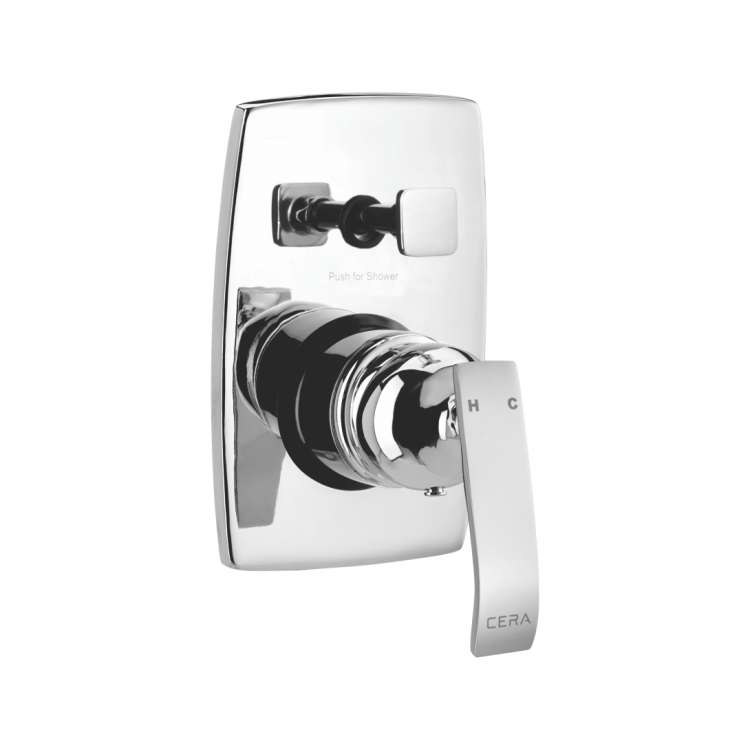 High flow single lever concealed diverter