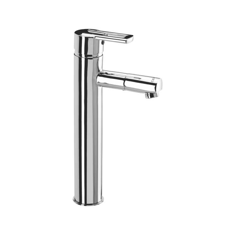 Single lever basin mixer with extended body