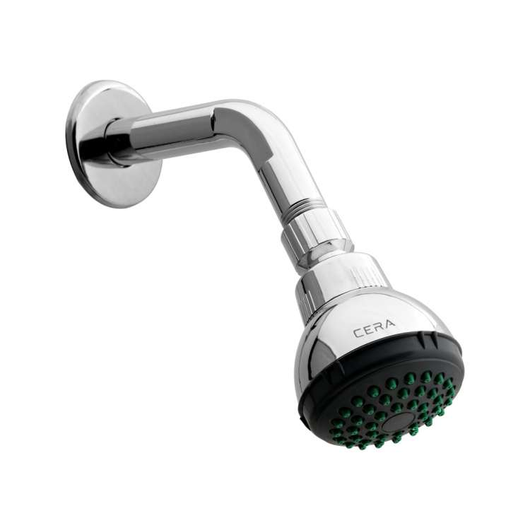 Overhead shower with arm