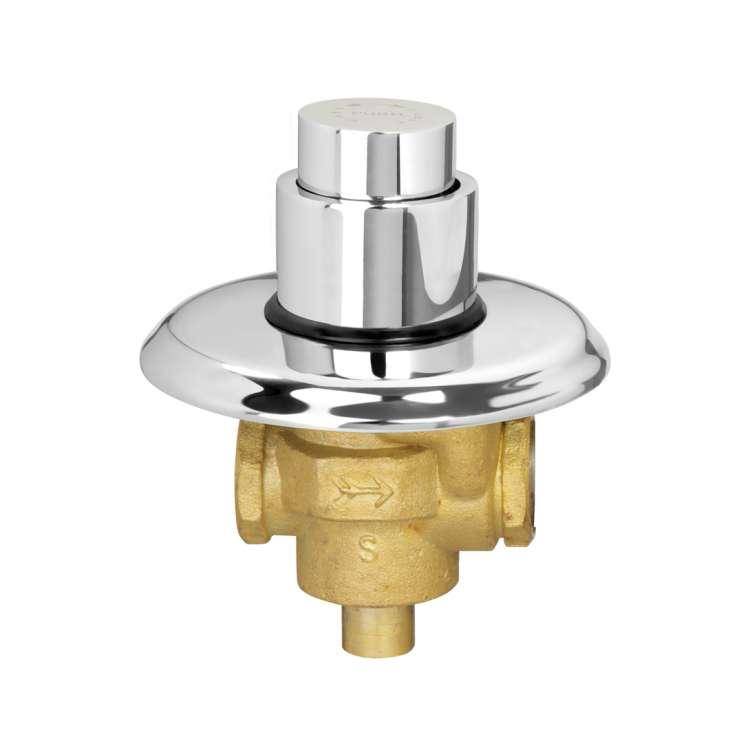 Flush valve push type single flow