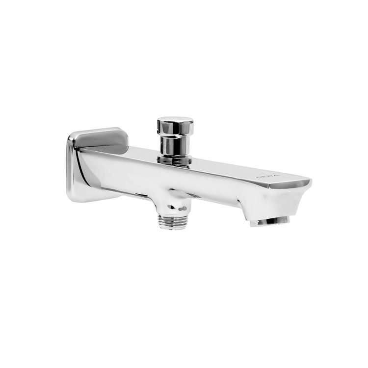 Bath tub spout with button arrangement