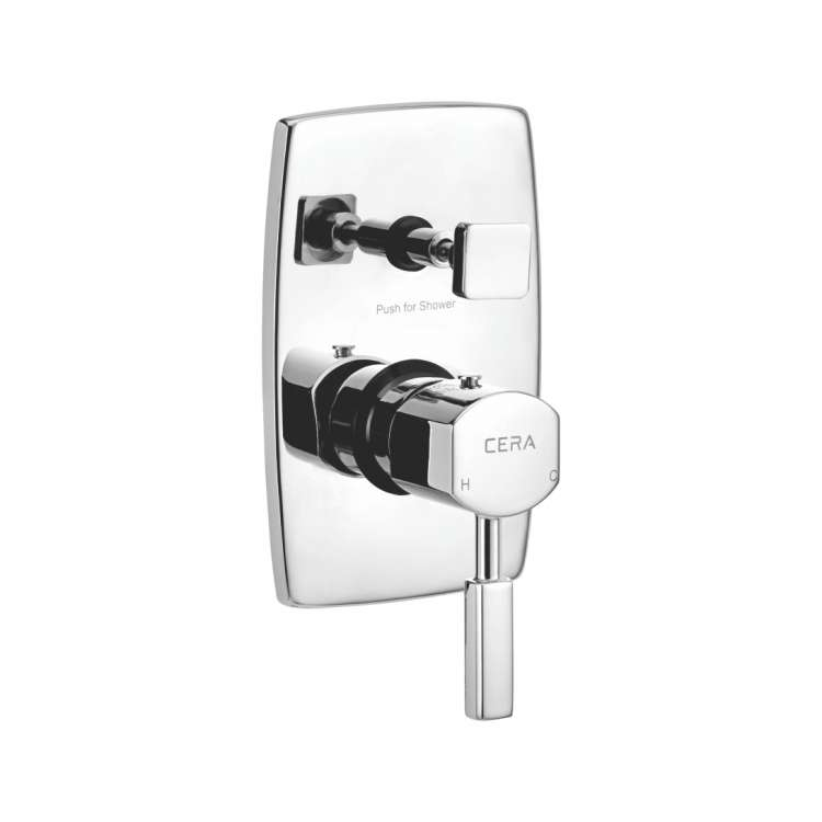 High flow single lever concealed diverter