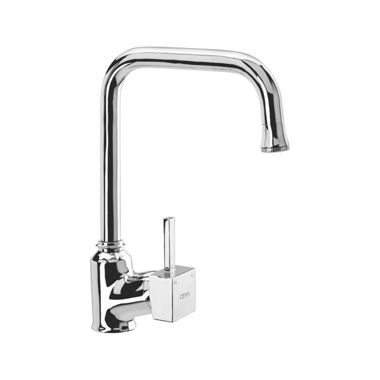 Single lever sink mixer table mounted