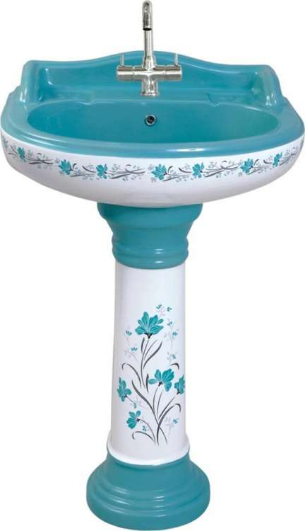 WASH BASIN WITH FULL PEDESTAL