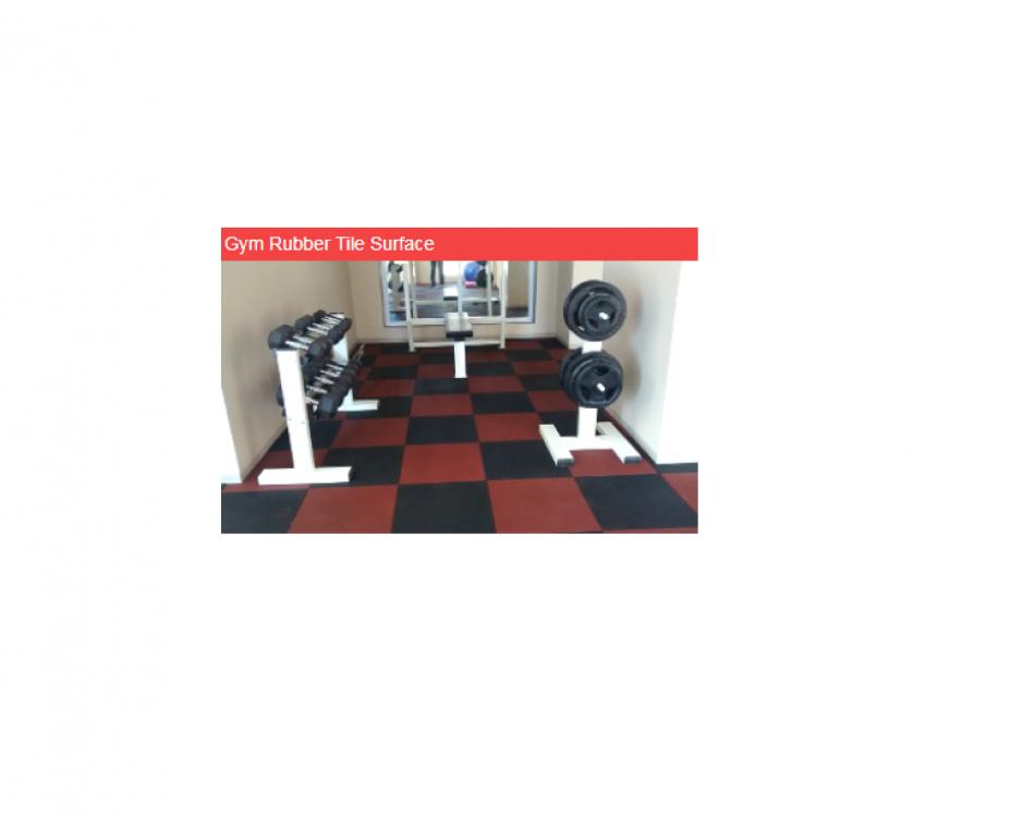 Gym Rubber Tile Surface