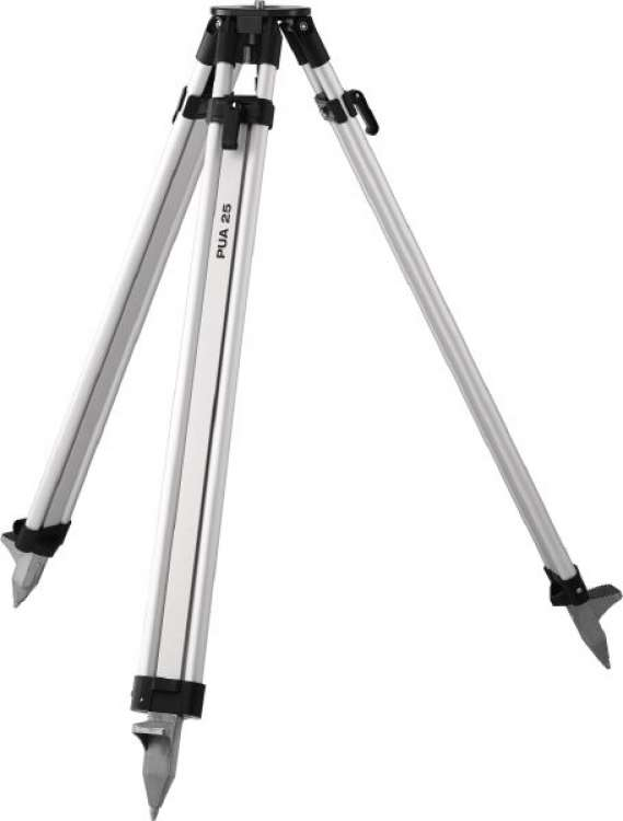 Tripods and leveling staffs
