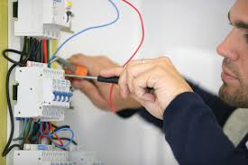 Electrical work with material