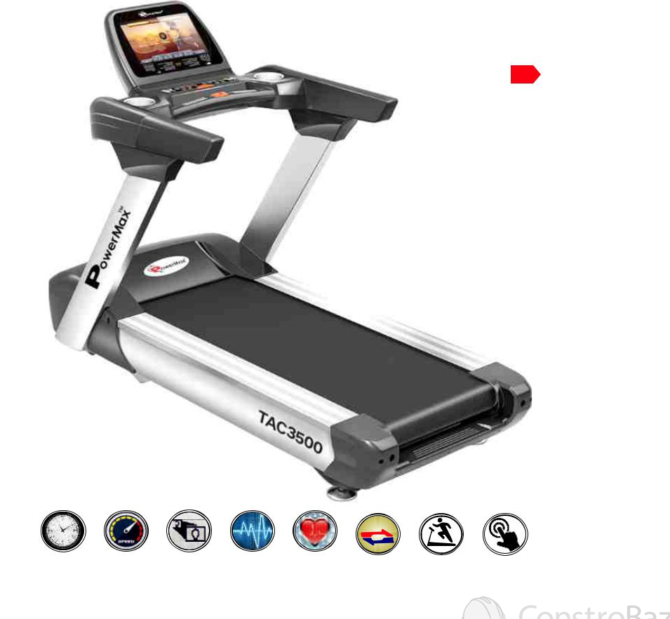 Commercial Motorized AC Treadmill (15.6 inch Color Touch Screen) - NEW