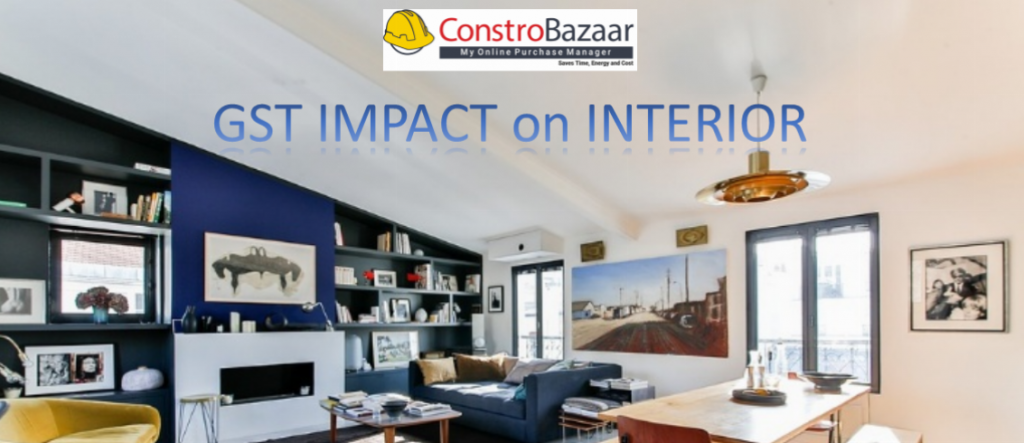 gst input on interior designer